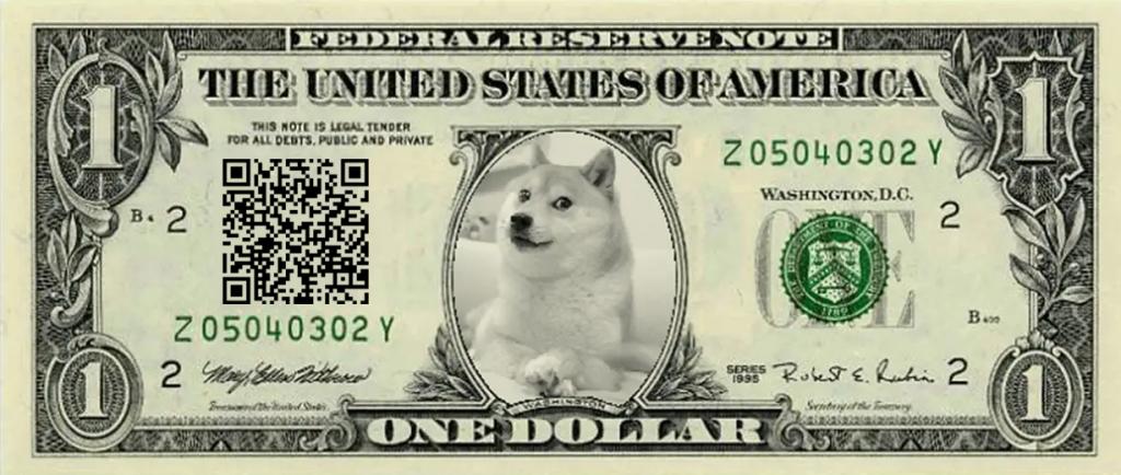 donate $1 dolar dogecoin